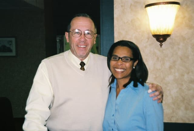 Angie Miles with Jim Trelease
